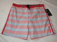 Men's Hurley board shorts swim surf skate trunks boardshorts 34 red blue striped