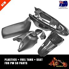For Yamaha PW50 PY50 JIANSHE 50 BLACK Plastic Fender Body Seat Fuel Gas Tank Kit
