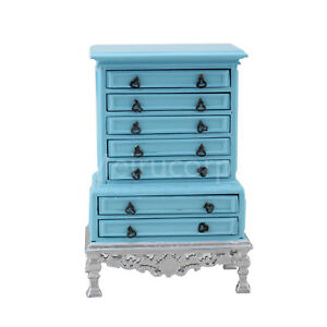 Dollhouse miniature furniture 1/12 scale Hand carved Royal palace Drawer cabinet