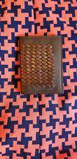 Salvatore Ferragamo Wallet Men Bilfold Leather Brown Woven Basket Weave NEW!