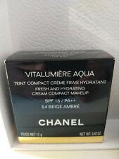 CHANEL VITALUMIERE AQUA CREAM COMPACT 54 BEIGE AMBRE NEW IN BOX