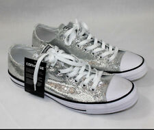 542dc25946e0 Converse Chuck Taylor All Star Ox Silver Glitter 135851C Unisex Men 11 Women  13