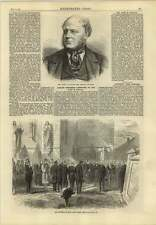 1869 French Sculptor M Dantan Funeral Of The Late Baron Leys