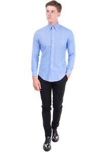 BROOKS BROTHERS 1818 Shirt Size S Textured Round Hem Button-Down Collar