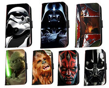 Star Wars phone case Darth Vader Boba fett leather case cover for Samsung Huawei