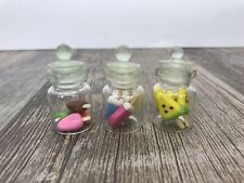 Lot Mini Polymer Clay Dollhouse Food Jars  Miniature Ice cream Lollipop Popsi