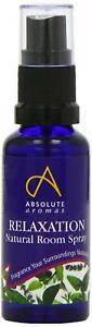 Absolute Aromas Relaxation Natural Room Spray 30ml Calming Room Fragrance