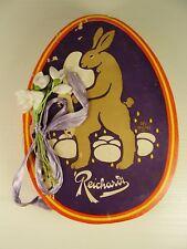 Antichi Reichardt poppanti BARATTOLO Coniglietto di Pasqua soggetto prima 1945 forma uovo