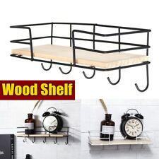 Wooden Floating Cube Shelves Wall Hanging Storage Display Shelving With Hook US