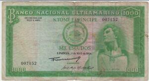 Portugal 1000 Escudos von 11. Mai 1964 gebraucht  65838