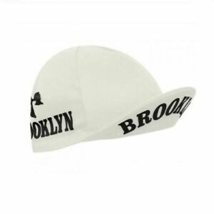 BROOKLYN WHITE RETRO VINTAGE MADE IN ITALY BIKE CYCLING SUMMER HAT CAP - White