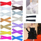 Fashion Womens Evening Party Wedding Opera Finger Elbow Long Satin Bridal Gloves