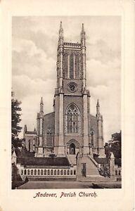 POSTCARD   HAMPSHIRE  ANDOVER   Parish  Church