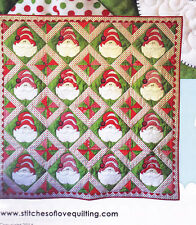 Mall Santas - applique & pieced Christmas quilt PATTERN - Stitches of Love