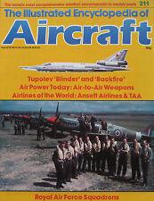 Aircraft Issue 211 Tupolev Tu-22 'Blinder' & 'Backfire' cutaway drawing