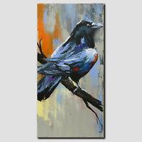 NOVAARTE Acryl Bild Abstrakt Malerei Kunst Modern Rabe Gemälde Leinwand ORIGINAL