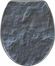 """Design WC-Sitz """"Slate Rock"""" Absenkautomatik mit Schiefer-Stein Motiv 3971"""