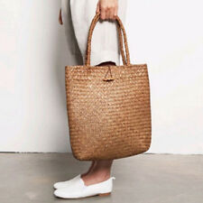 Women Fashion DESIGNER Lace Handbags Tote Bags Handbag Wicker Rattan Bag SH T1b3