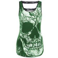 Unbranded Polyester Skull Tops & Blouses for Women