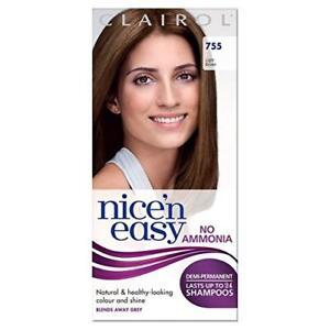 Clairol Nice'n Easy Semi-Permanent Hair Dye No Ammonia 755 Light Brown