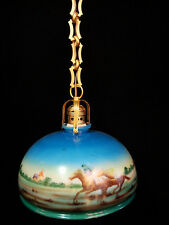 Antique French Handpainted Porcelain Ceiling Light Chandelier