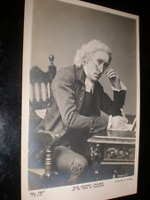 Old real photo postcard actor Henry Irving Vicar of Wakefield c1900s