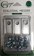 18 Edelstahl Messer Klingen &Schrauben Honda® Miimo geprüfte Qualität Preisgar.