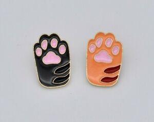 Sale Seconds -  Cat Paw Design Enamel Brooch Pin Badge
