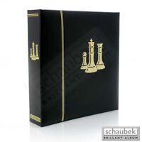 Schaubek Motivalbum Schach - Kunstleder-Schraubbinder schwarz, mit Motivprägung