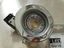 Chrome Downlight ETERNA with Led 5watt 300Lm DIMMABLE 3000K WARM white GU10