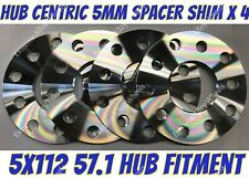 Alloy Wheel Spacers 5mm x 4 Audi A3 A4 B4 B5 B6 B7 A6 Silver Cruize 5x112 57.1