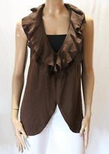 JONES NEW YORK Brand Brown Knitwear Sleeveless Cardigan Size L NEW #TC85