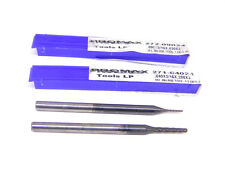 """2 Used Promax Carbide End Mills .090"""" & .040"""", 4-Flute Ball Nose"""
