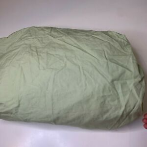 100% cotton fitted sheet twin solid color green