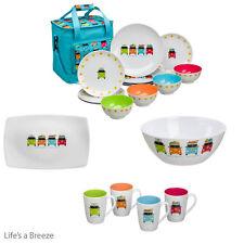 Camper Smiles VW Dinner Set, Salad Bowl, Platter & Mug Set, Camping, Caravanning
