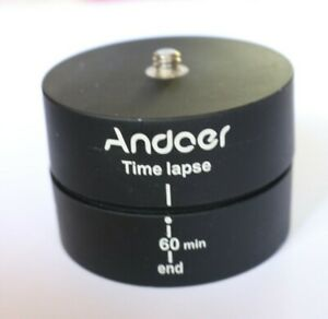 Andoer 360° Rotation Tripod Head Panorama Time Lapse Mount for GoPro Phone