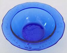 Cobalt Blue Tiara Glass Mother Goose Childrens Bowl Three Blind Mice Bo Peep