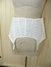 New listing 60S Garter Belt s40 Vintage Girdle Cool-Ette #4730 Deadstock Cotton Eyelet Lace