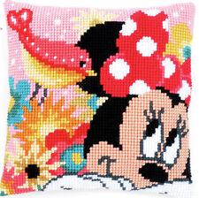 PST HO un segreto Minnie Mouse trama grossa Cuscino Punto Croce Kit Anteriore 40x40cm