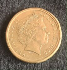 2000 $1 DOLLAR 10 CENTS  MULE DOUBLE RIM ERROR  AUSTRALIA HIGH GRADE RARE aEF