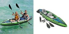 Intex Challenger K2 Inflatable Kayak with pump and oars.
