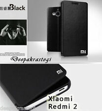 Premium Leather Flip Cover Case For Xiaomi Redmi 2