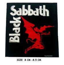 Black Sabbath DEMON  Music Band Cross logo Embroidered Iron Sew On Patch