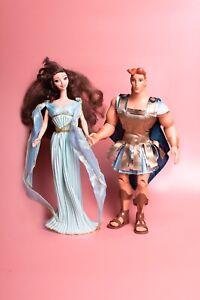 Rare Original Disney Mattel Legends of Love Hercules and Megara Doll Figure Set