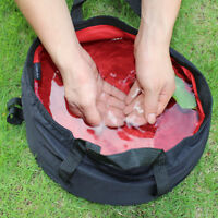 Folding Water Pot Bags Sink Washbasin Bucket Wash Basin Camping Outdoor 8.5L RI