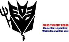"Vinyl Decal Sticker - Transformers Decepticon Devil Car Truck Bumper JDM Fun 9"""