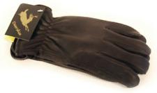Napa Deerskin Leather Driver Lined Gloves (Black, Large)