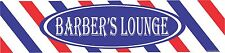 BARBER'S LOUNGE- barber shop supplies, barber supply road sign,  decor, signs