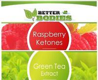 100 Raspberry Ketones & 100 Green Tea Extract Weight Loss Diet Capsules Pills