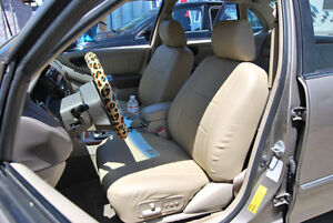 TOYOTA AVALON 1995-1999 IGGEE S.LEATHER CUSTOM FIT SEAT COVER 13COLORS AVAILABLE